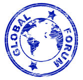 Global Forum Means Social Media And Communication Stock Images