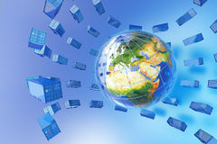 Global freight traffic Royalty Free Stock Photography