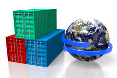 Global freight transportation Royalty Free Stock Image