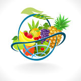 Global Fresh Fruits Basket Stock Photos