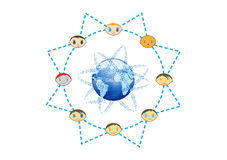 Global Friends Network Concept Illustration Stock Image