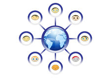 Global Friends Network Illustration Royalty Free Stock Image