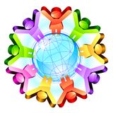 Global friendship concept Royalty Free Stock Images