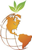 Global fruit logo. Illustration art of a global fruit logo with isolated background Royalty Free Stock Images