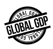 Global GDP rubber stamp Royalty Free Stock Images