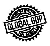 Global GDP rubber stamp. Grunge design with dust scratches. Effects can be easily removed for a clean, crisp look. Color is easily changed Royalty Free Stock Photo