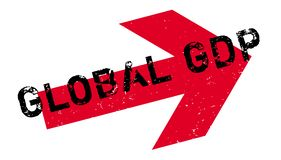 Global GDP rubber stamp Stock Photography