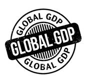 Global GDP rubber stamp Stock Image