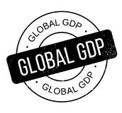 Global GDP rubber stamp Royalty Free Stock Photo