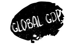 Global GDP rubber stamp Royalty Free Stock Photography