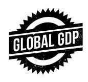 Global GDP rubber stamp. Grunge design with dust scratches. Effects can be easily removed for a clean, crisp look. Color is easily changed Stock Images