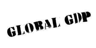 Global GDP rubber stamp Royalty Free Stock Image