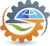 Global gear logo Stock Photo