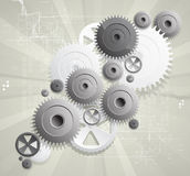 Global gears computer technology concept business  Royalty Free Stock Photography