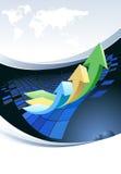 Global - Geschäftsbroschüreauslegung vektor abbildung