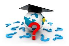 Global with graduation cap Stock Photos