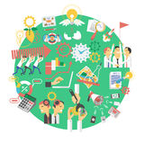Global green business concept icon Royalty Free Stock Images