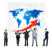 Global Growth. Business people and global growth stock images