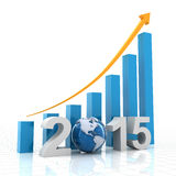 2015 global growth. 3d render Royalty Free Stock Photo