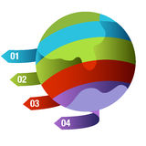 Global Growth Quadrants. An image of a global growth icon Stock Photography