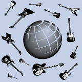 Global Guitars Background Royalty Free Stock Photos
