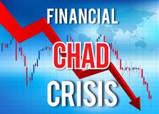 Global härdsmälta för Chad Financial Crisis Economic Collapse marknadskrasch vektor illustrationer