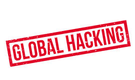 Global Hacking rubber stamp Stock Photos