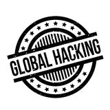 Global Hacking rubber stamp Royalty Free Stock Images
