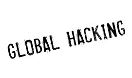 Global Hacking rubber stamp Royalty Free Stock Image
