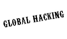 Global Hacking rubber stamp Royalty Free Stock Photo