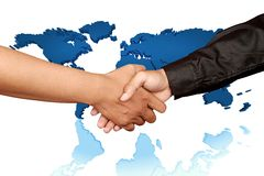 Global hand shake Royalty Free Stock Images