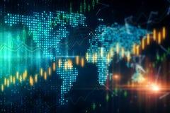 Global handel och att investera begrepp arkivfoton