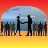 Global Handshake Stock Image