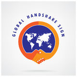 Global handshake abstract sign. Business  concept. Royalty Free Stock Photos
