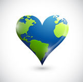 Global heart illustration design Royalty Free Stock Photo