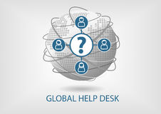 Global help desk concept  icon. Royalty Free Stock Photography
