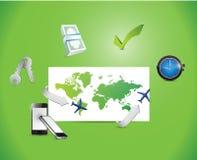 Global high-tech business illustration Stock Image