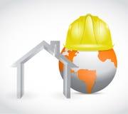Global home building construction. illustration Stock Image