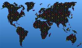 Global homosexualitet vektor illustrationer