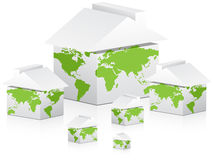Global houses Royalty Free Stock Photography