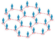 Global Human Distribution Illustration Royalty Free Stock Photo