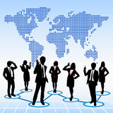 Global human resources concept vector illustration