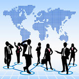 Global human resources concept royalty free illustration