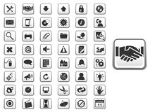 GUI icon set for web and app. I have created generic vector icon set for web and applications royalty free illustration