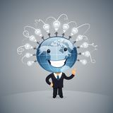 Global Idea Vector illustration Royalty Free Stock Image