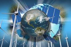 global illustration för ekologi royaltyfri illustrationer