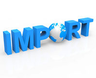 Global Import Represents Buy Abroad And Globalise Royalty Free Stock Photos