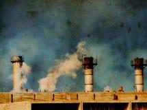 global industriell värme för förorening Arkivbilder