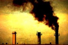 global industriell värme för förorening Royaltyfri Fotografi
