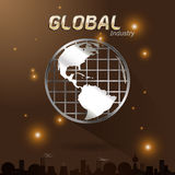 Global industry save the world Royalty Free Stock Photos